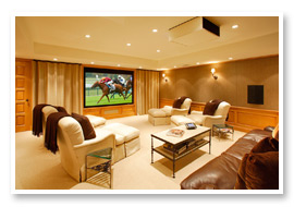 Your home entertainment set up will mimic a movie theater's video and audio feeling in the privacy of your home.